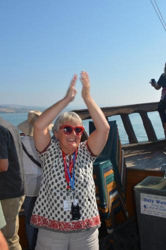SEP 16 Boat Ride on Sea of Galilee and ancient boat (52)